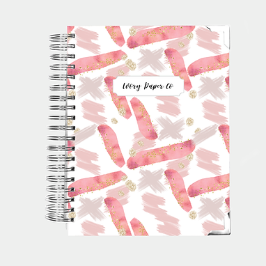 Pink Paint Strokes | Ultimate Weekly Planner | 12 Month