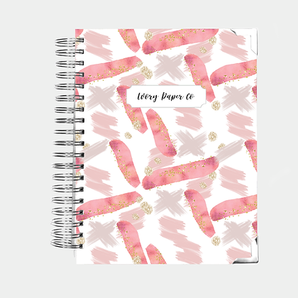 Pink Paint Strokes | All-In-One Planner (Daily, Weekly & Monthly)
