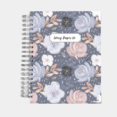 Budget Planner - 12 Months  - Navy Floral