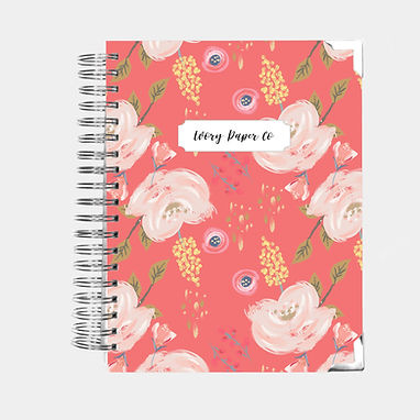 Coral Floral | Vertical Weekly Planner (12 Months)
