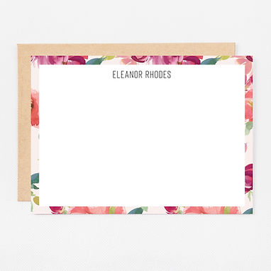 Personalized Stationery Notecards | Blush Watercolor Set