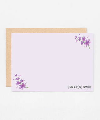 Personalized Stationery Notecards | Lovely Lavender Set