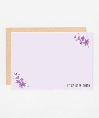 Personalized Stationery Notecards | Lovely Lavender Set