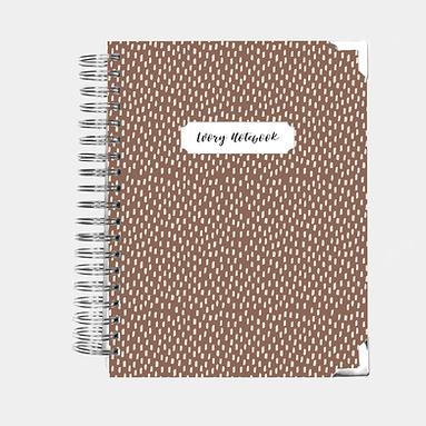 Notebook   Brown Brush Strokes