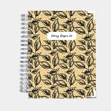 Gold Leaves | Vertical Weekly Planner (12 Months)