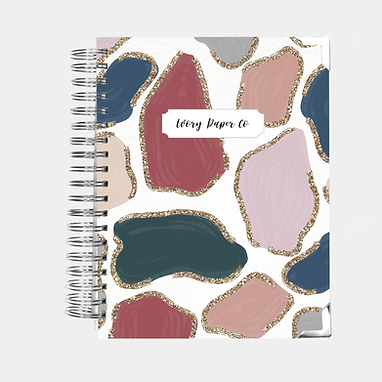 Glitter Animal Print | All-In-One Planner (Daily, Weekly & Monthly)