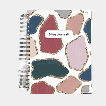 Glitter Animal Prints | Vertical Weekly Planner (12 Months)