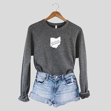Ohio Hearts - Comfy Sweatshirt - By Whole Kindness