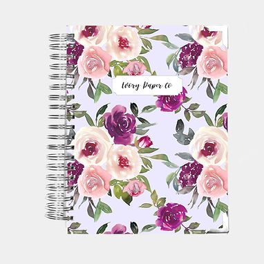 Lavender Watercolor | 12 Month Daily Planner