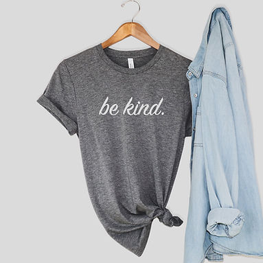 Be Kind Comfy Tee - Gray