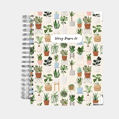 Potted Plants | Vertical Weekly Planner (12 Months)