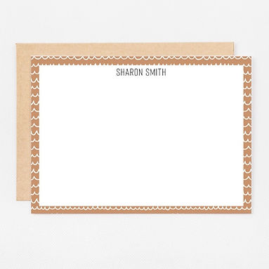 Personalized Stationery Notecards | Nude Scribbles Set