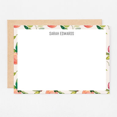 Personalized Stationery Notecards | Natural Peach Set