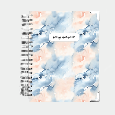 Personalized Notebook   Bullet or Lined   Abstract Watercolor