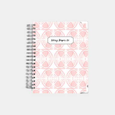 Pink Lemon Slice Undated Ivory Paper Co Planner