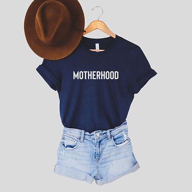 Motherhood Comfy Tee - Navy