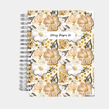 Golden Flower | All-In-One Planner (Daily, Weekly & Monthly)