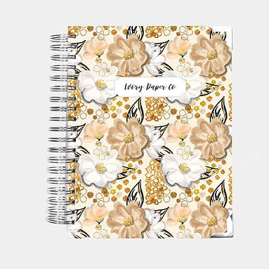 Golden Flowers | Ultimate Weekly Planner | 12 Month