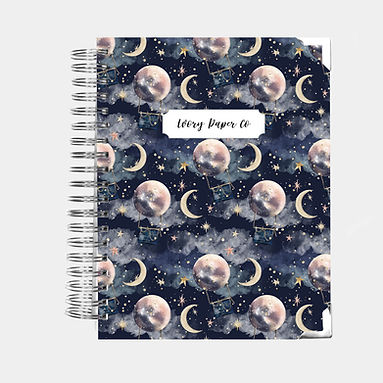 Personalized Notebook | Bullet or Lined | Hot Air Balloons