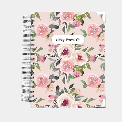 Mauve Watercolor | Vertical Weekly Planner (12 Months)