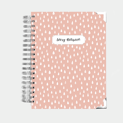 Notebook   Pink Drops