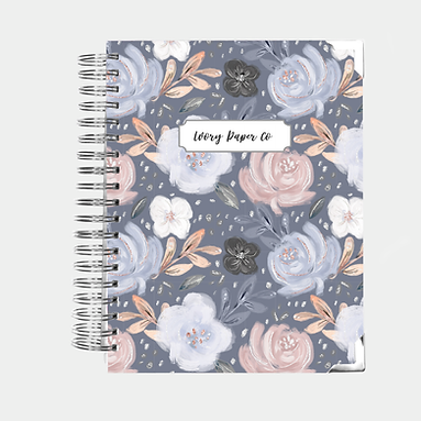 Navy Floral | Vertical Weekly Planner (12 Months)