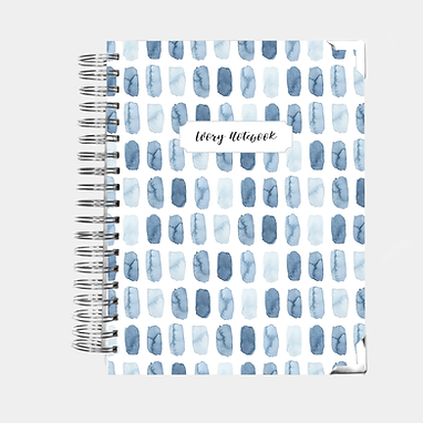 Notebook | Blue Watercolor Brush Strokes