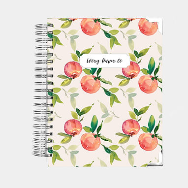 Natural Peach | Vertical Weekly Planner (12 Months)