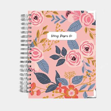 Budget Planner - 12 Months  - Pink Vintage Floral