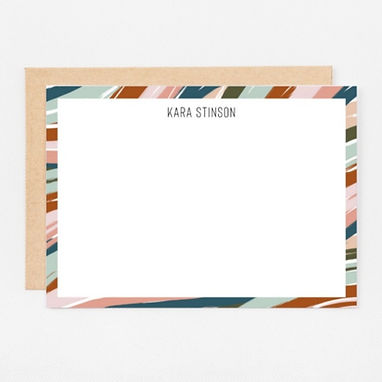 Personalized Stationery Notecards | Desert Waves Set