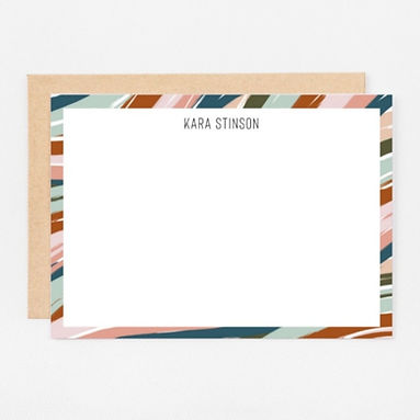 Personalized Stationery Notecards   Desert Waves Set