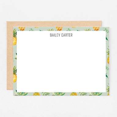 Personalized Stationery Notecards | Pineapple Set