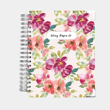 Budget Planner - 12 Months  - Blush Watercolor Floral