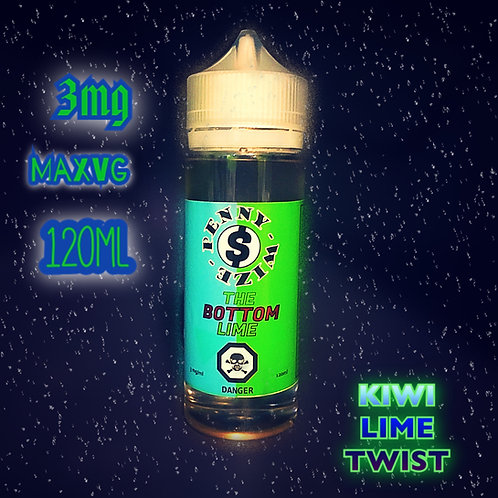 PENNY-WIZE THE BOTTOM LIME ELIQUID 3mg 120ml