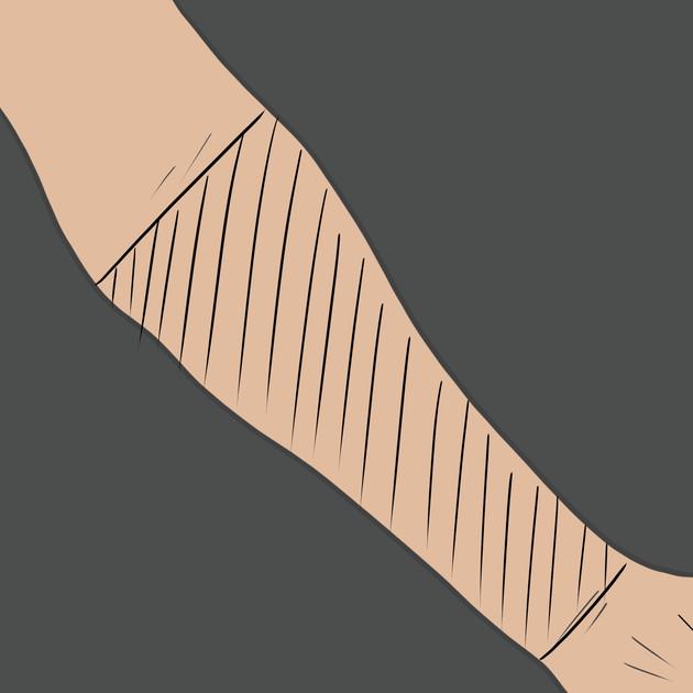 Tetování na vnitřní stranu předloktí