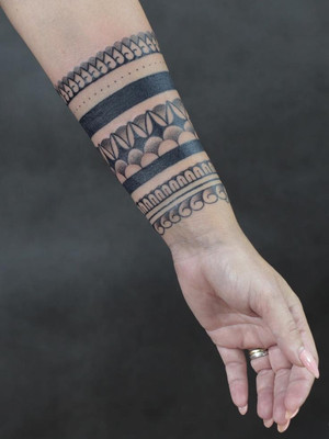 ornamental tattoo - forearm - black house tattoo prague