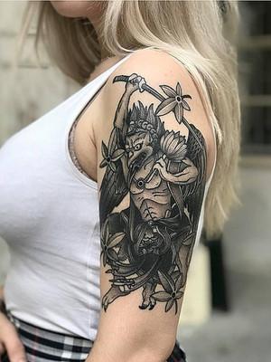 Tatouages japonais - Black House Tattoo Prague - pour homme - pour femme - démon pour femme