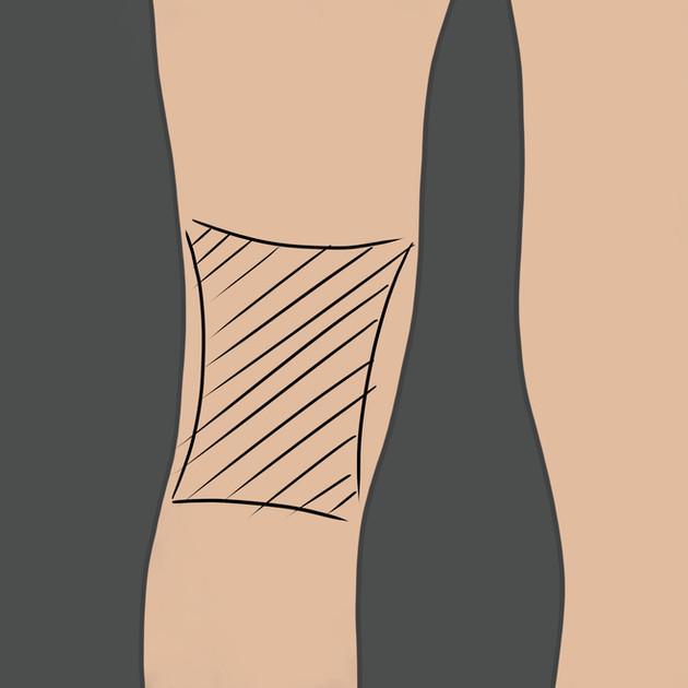 Tetování za koleno
