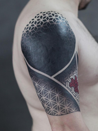 Blackwork Tattoos, Black Tattoos, Black House Tattoo, Shoulder, ornamental
