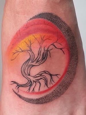 abstract tree - watercolor tattoo - watercolor tattoo - black house tattoo prague