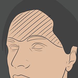 Tetování na čelo a nad okem
