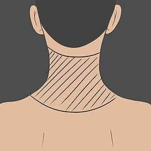 Tetování na zadní straně krku