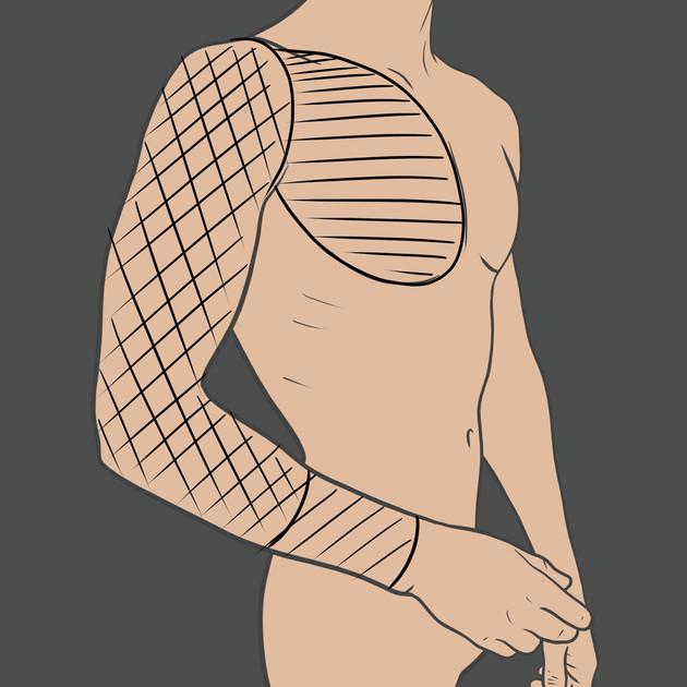Tetování na ruku (Rukáv)