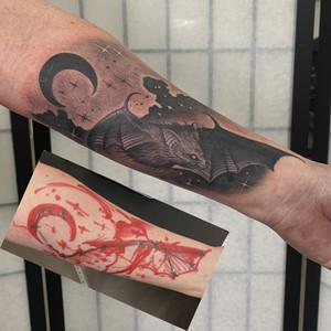 Překrytí starého tetování