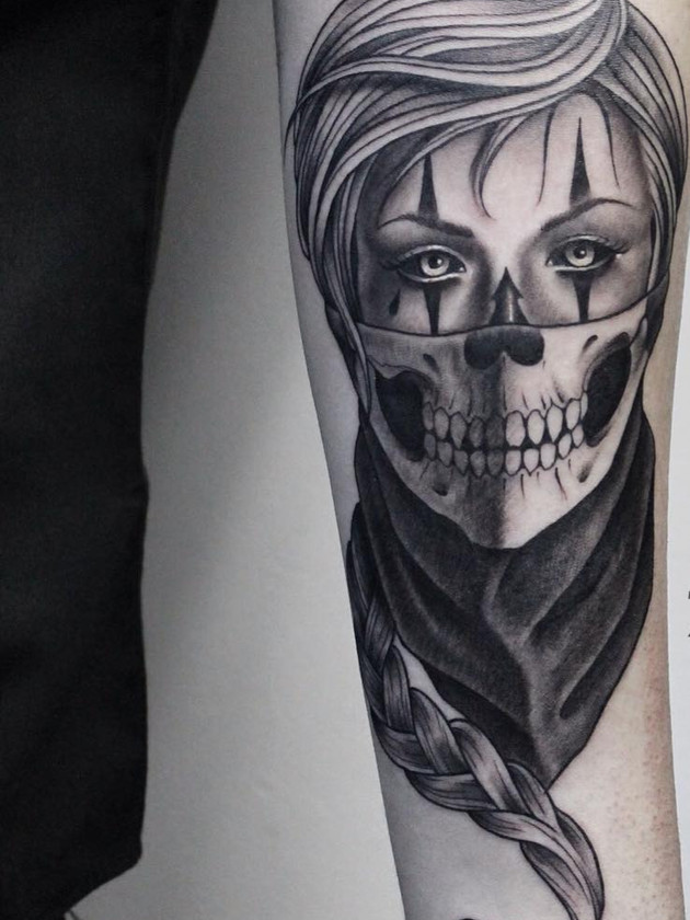 Tattoo Muerta, Forearm, For Men, Black House Tattoo Prague