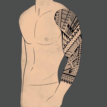 Rukáv Polynéské tetování na ruku pro muže