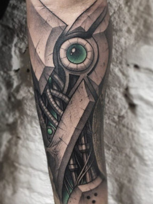 Biomechanical Tattoo Prague, Black House Tattoo, Forearm