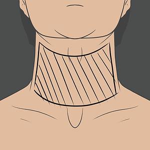 Tetování na přední straně krku