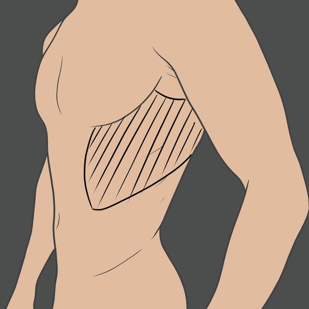 Tetování na žebrech