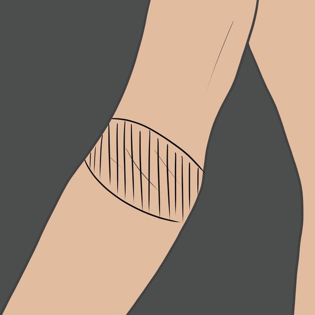 Tetování na ohyb lokte